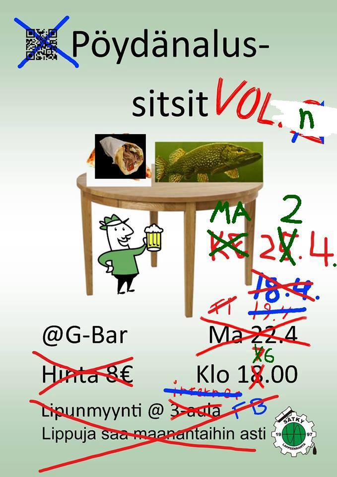 Pöydänalussitsit vol. N